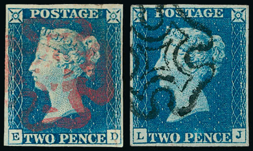 Great Britain Stamps 1840 Lot 1482 Great Britain 1840