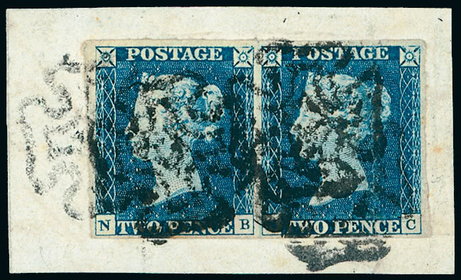 Great Britain Stamps 1840 Lot 1489 Great Britain 1840