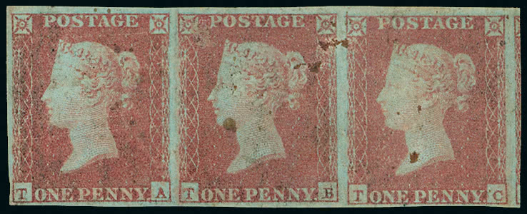 1841 one penny red-brown and two pence blue Stamp Auctions