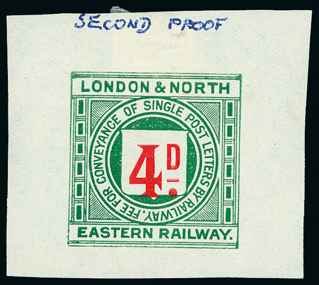 Stamp Auction - Railways: England and Wales railway stamps